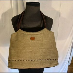 Relic faux leather/woven bag